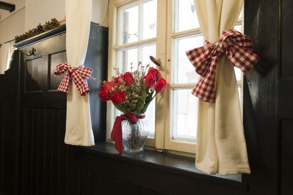 Blume vor Fenster